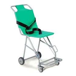 Transit Chair with 4 wheels, brake and footrest